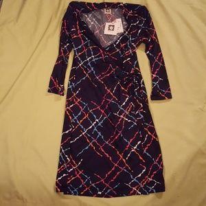 Anne Klein Navy Dress NWT